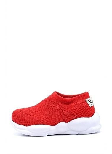 First Step Ultra Hafif Memory Foam İç Taban Çocuk Triko Spor Ayakkabı-M-1002 Kırmızı